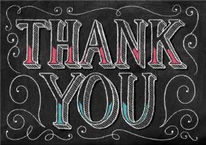 Greeting Cards - Chalkboard Style Personalised Thank You Card - Image 1