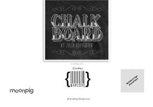 Greeting Cards - Chalkboard Style Personalised Thank You Card - Image 4
