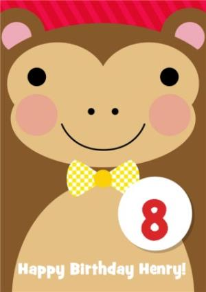 Greeting Cards - Cheerful Monkey Kids Birthday Card - Image 1