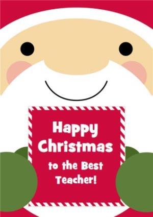 Greeting Cards - Cartoon Santa Claus Happy Christmas Card - Image 1