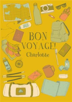 Greeting Cards - Bon Voyage Card - Travelling - Travel - Adventure - Image 1