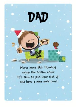 Greeting Cards - Dib Dab Happy Christmas Dad Card - Image 1
