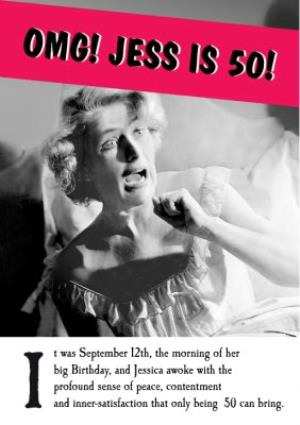 Funny 50th Birthday Card For Women