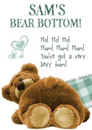 Greeting Cards - Bear Bottom Personalised Happy Valentine's Day Card - Image 1