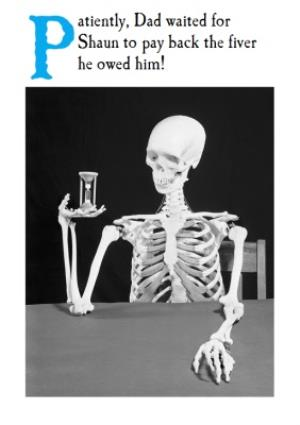 Greeting Cards - Dad Waiting Patiently Card - Image 1