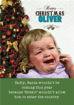 Greeting Cards - Brexit Santa Christmas Card - Image 1
