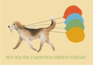 Greeting Cards - Birthday Card - Wonderful Birthday - Birthday Balloons - Dogs - Image 1