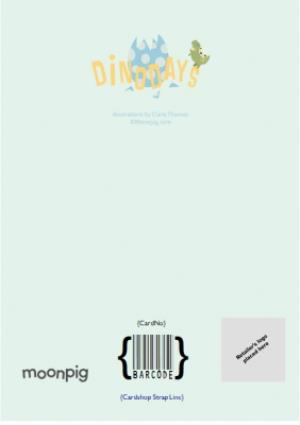 Greeting Cards - Dino-Mite Scene Personalised Photo Upload Happy 5th Birthday Card - Image 4