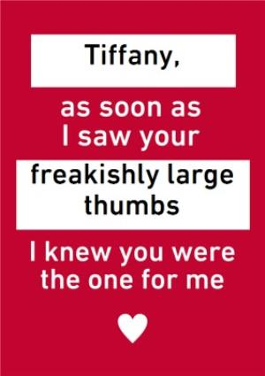 Funny Personalised Text Message Valentines Day Card Moonpig