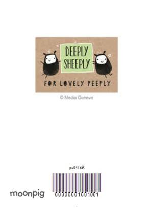 Greeting Cards - Deeply Sheeply One Was Enough Birthday Card  - Image 4
