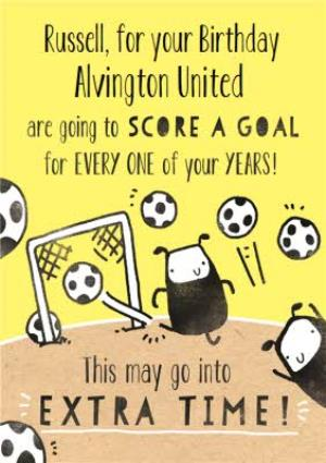 Greeting Cards - Deeply Sheeply Score A Goal Birthday Card  - Image 1