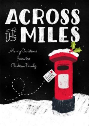 Greeting Cards - Dusty Across The Miles Personalised Christmas Card - Image 1