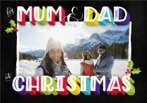 Greeting Cards - Dusty Mum And Dad Christmas Photo Upload Card - Image 1