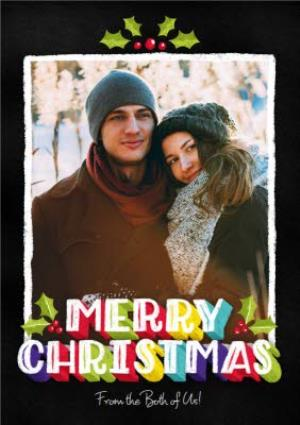 Greeting Cards - Dusty Merry Christmas Photo Upload Card - Image 1