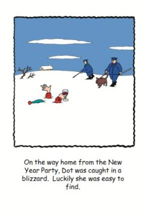 Greeting Cards - Caught In A Blizzard Funny Personalised Happy Christmas Card - Image 1