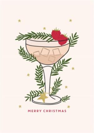 Greeting Cards - Christmas Cocktail Greetings Card - Image 1