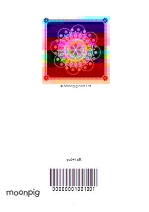Greeting Cards - Black And Colourful Rangoli Pattern Personalised Happy Diwali Card - Image 4