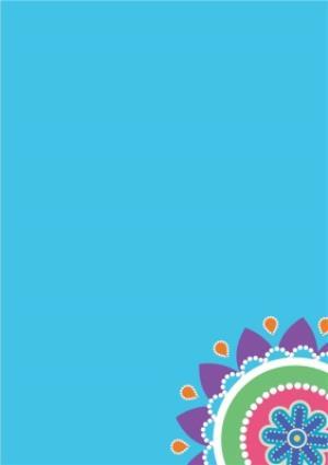 Greeting Cards - Bright Blue And Orange Happy Diwali Photo Card - Image 3