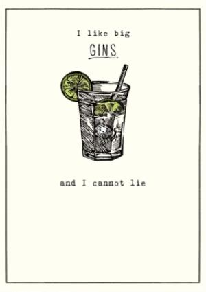 Greeting Cards - Birthday Card - Gin - Alcohol - Image 1