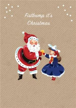 Greeting Cards - Fistbump Its Christmas Card - Image 1