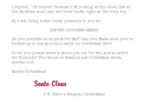 Greeting Cards - A Special Letter For Official Santa Personalised Merry Christmas Card For Child - Image 3