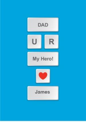 Greeting Cards - Father's Day Card - Dad - My Hero - Image 1