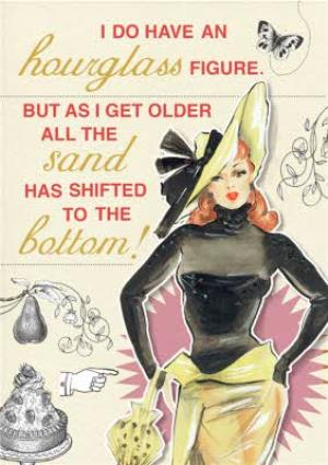 Greeting Cards - Fashion Faux Pas Hourglass Birthday Card  - Image 1