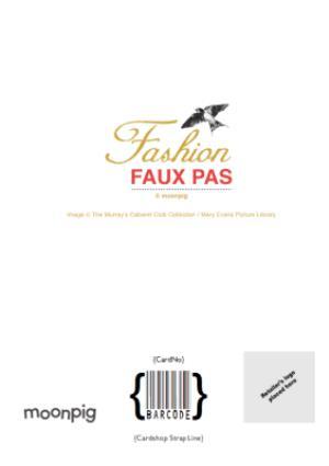 Greeting Cards - Fashion Faux Pas Cabaret Birthday Card  - Image 4