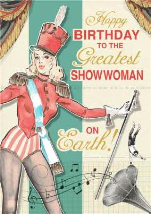 Greeting Cards - Fashion Faux Pas Cabaret Birthday Card  - Image 1