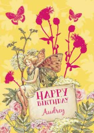 Greeting Cards - Fairy In The Garden Personalised Happy Birthday Card - Image 1