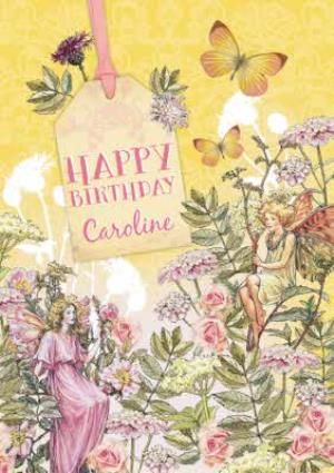 Greeting Cards - Wild Rose Fairy And Queen Fairy Personalised Happy Birthday Card - Image 1