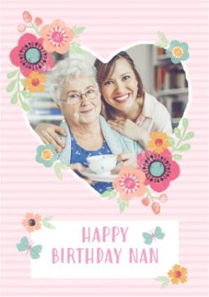 Greeting Cards - Birthday Card - Happy Birthday - Nan - Photo Upload - Image 1