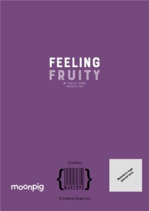 Greeting Cards - Feeling Fruity Aubergine Card - Image 4