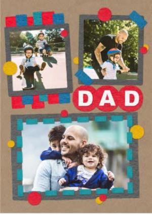 Greeting Cards - Colourful Photo Father's Day Card - Image 1