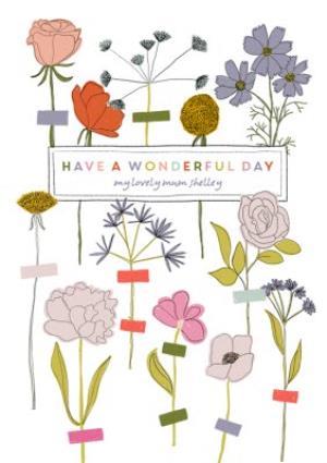 Greeting Cards - Birthday Card - Mum - Wonderful Day - Image 1
