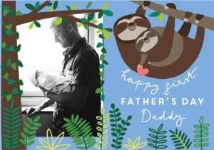 Greeting Cards - Cheeky Little Monkey Father's Day Photo Card - Image 1
