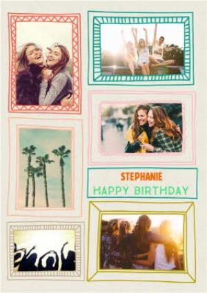 Greeting Cards - Colourful Picture Frame Multi-Photo Card - Image 1