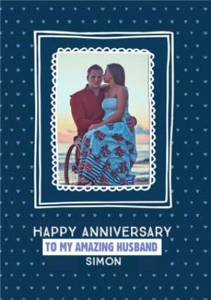 Greeting Cards - Anniversary Card - Husband - Photo Upload - Image 1