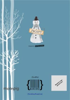 Greeting Cards - Big Stick Snowman Personalised Christmas Card - Image 4