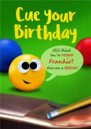 Greeting Cards - Cue Your Birthday Billiards Card - Image 1
