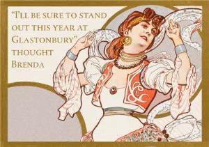 Greeting Cards - Birthday Card - Retro Illustration - Humour - Glastonbury - Image 1