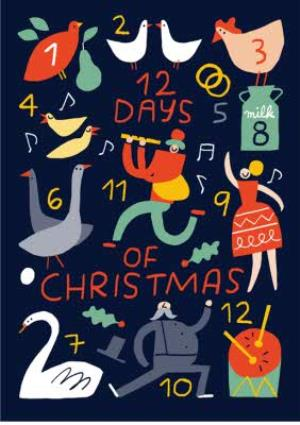 Greeting Cards - 12 Days Of Christmas Card - Image 1