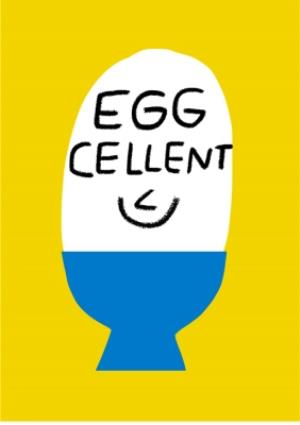 Greeting Cards - Congratulations card - Eggcellent - Image 1