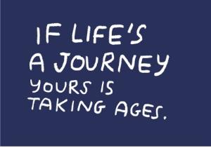 Greeting Cards - Birthday card - life's a journey - Image 1