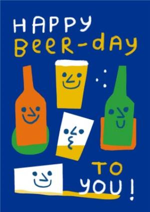 Happy Beer Day Birthday Card For Him