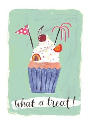 Greeting Cards - Female Birthday card - cupcake - food - Image 1