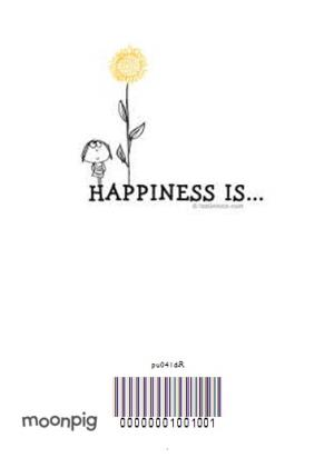 Greeting Cards - Cartoon Happiness Is Personalised New Home Card - Image 4