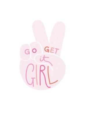 Greeting Cards - Go Get It Girl Card - Image 1