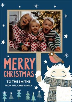 Greeting Cards - Christmas Card - Photo Upload - Illustration - From The Family - Image 1