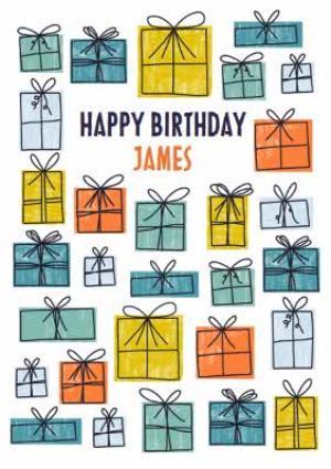 Modern Male Birthday Card For Him